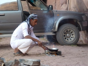 Ala is a master Bedouin guide and desert chef.