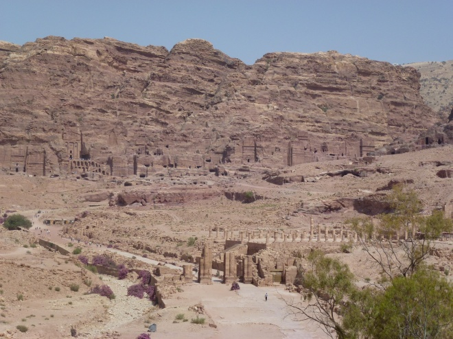 Petra with Grecco-Roman colunnade