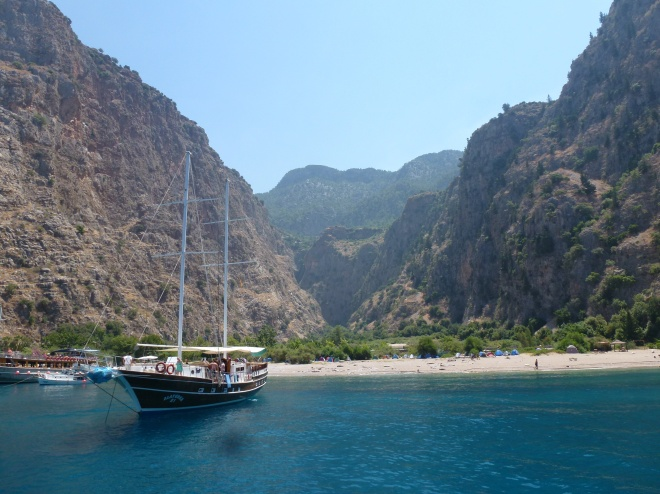Butterfly valley from our gulet, the Alaturka 2