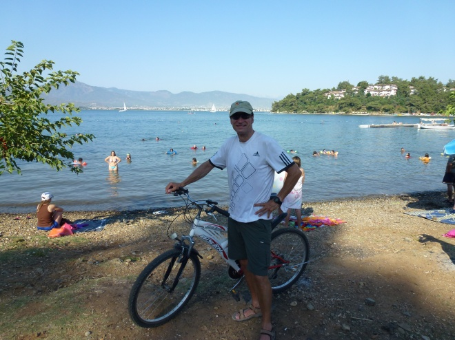 Biking around Fethiye harbor