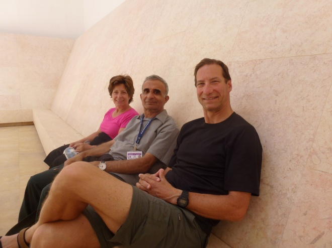 "Inside the ""Turrell"" with local  hero, Shlomo"