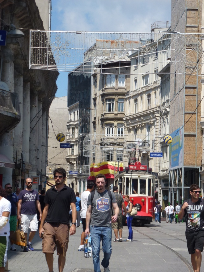 On Independence street, Istanbul.