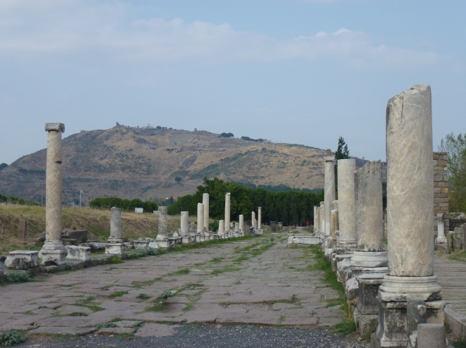 Stoa at Askceplion; Pergamum in the background