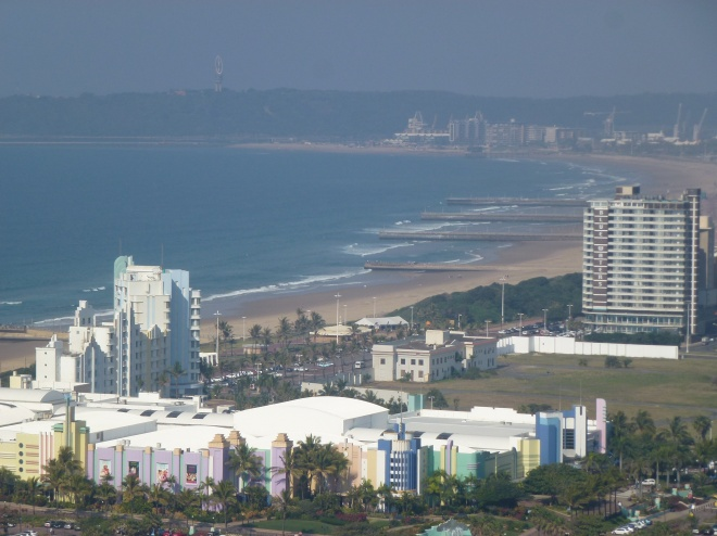View of  Durban waterfront from Moses Mabhida Stadium