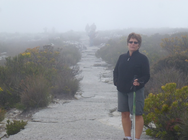 In the 'tablecloth' of Table Mountain
