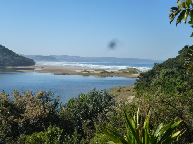The view from our deck at Buccaneers Lodge and backpackers hostel, Cintsa