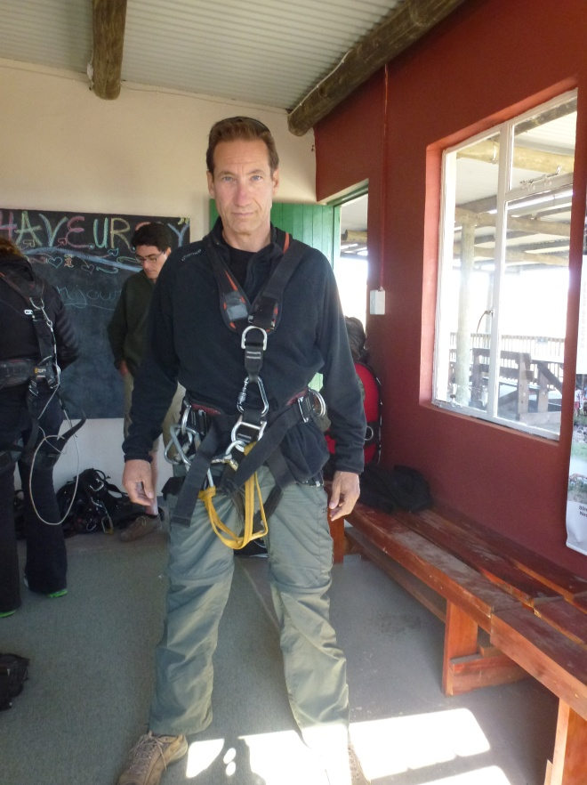 Ready for Zip-lining...or deviant behavior