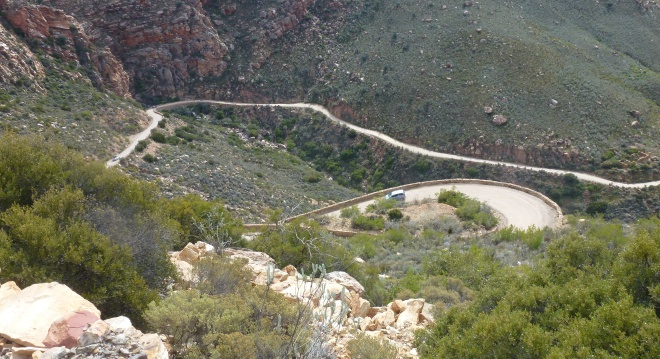Hairpin turns on the Swartberg pass
