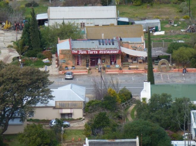 View of the Jam and Tarts from the mountain over Barrydale
