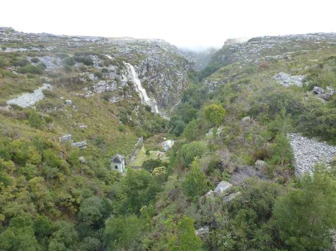 In back of the Heyl-Hutchinson dam on top of Table Mountain