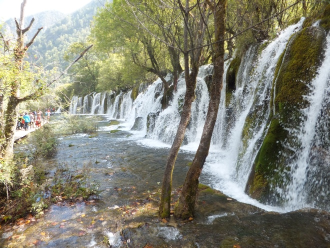 JiuZhaigao had some of the most unique waterfalls