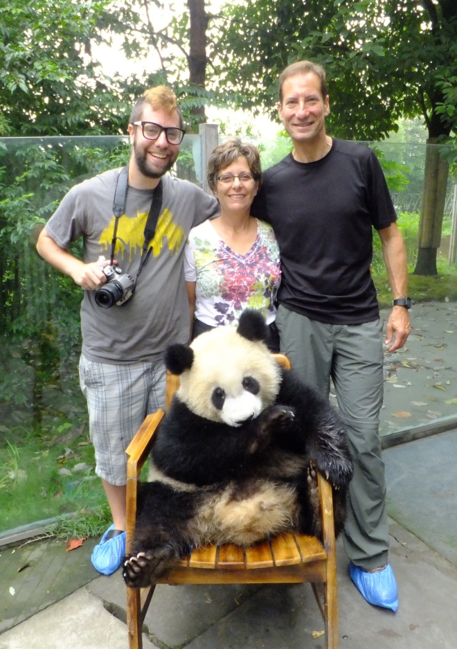 Singers with panda