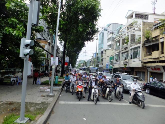 Streets of Ho Chi Minh City; still called Saigon by many