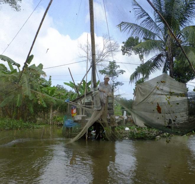 Fishing big on a Mekong tributary