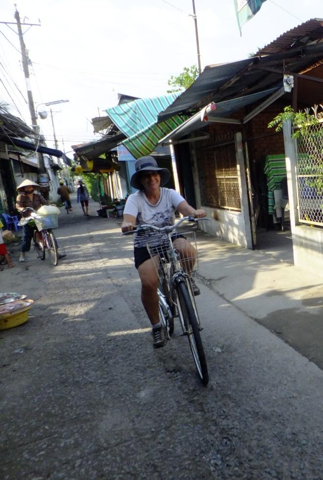 Going through Hung Phu village