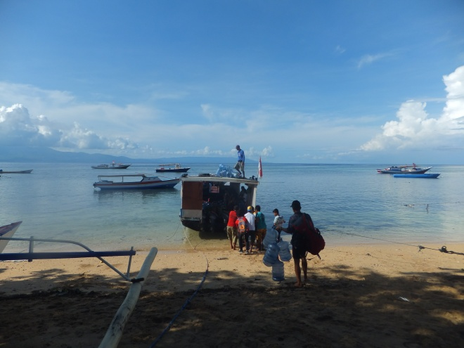 The public ferry back to Sulawesi