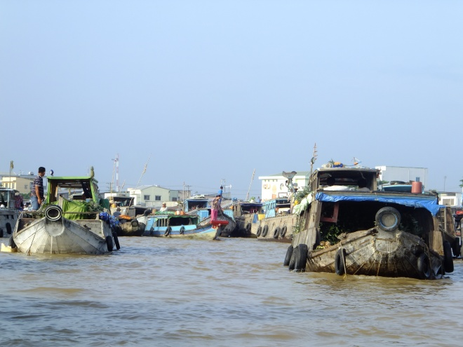 Boats on the Can Tho floating market
