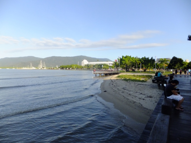 By the Esplanade in Cairns