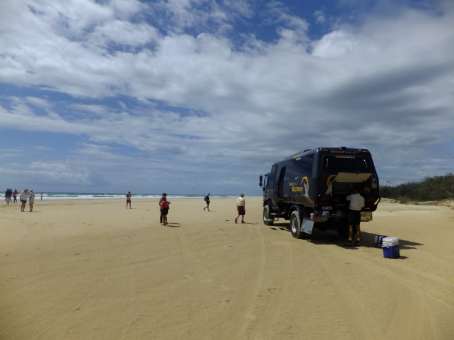 On 75-mile beach, Fraser Island
