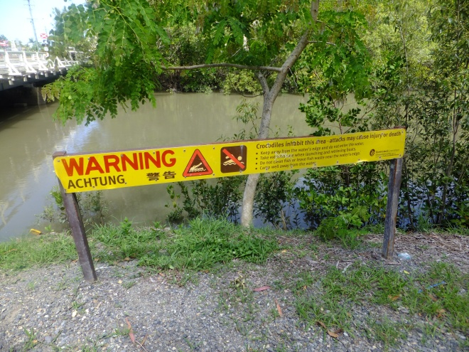 Crikey! Watch out for crocs and just keep on riding!
