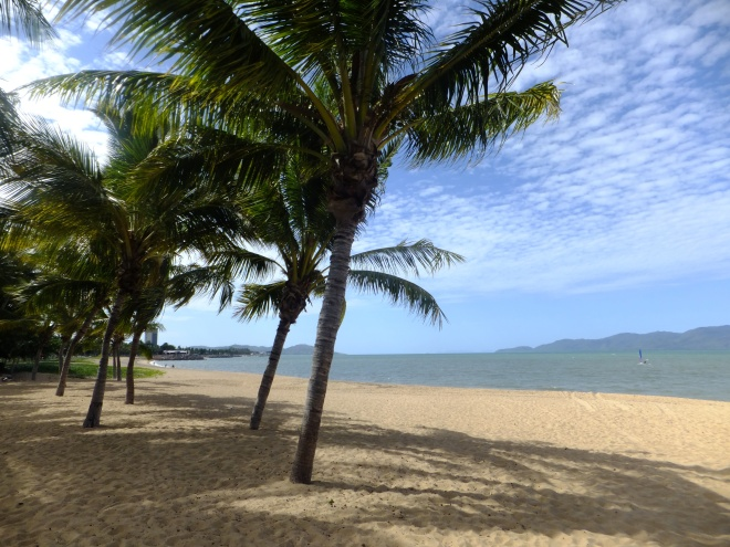 Mission Beach is about 2 hours south of Cairns.