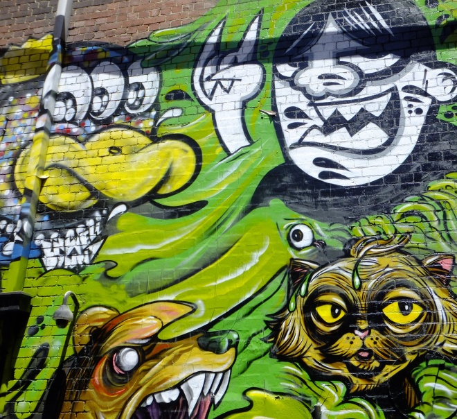 Street art abounds in Melbourne