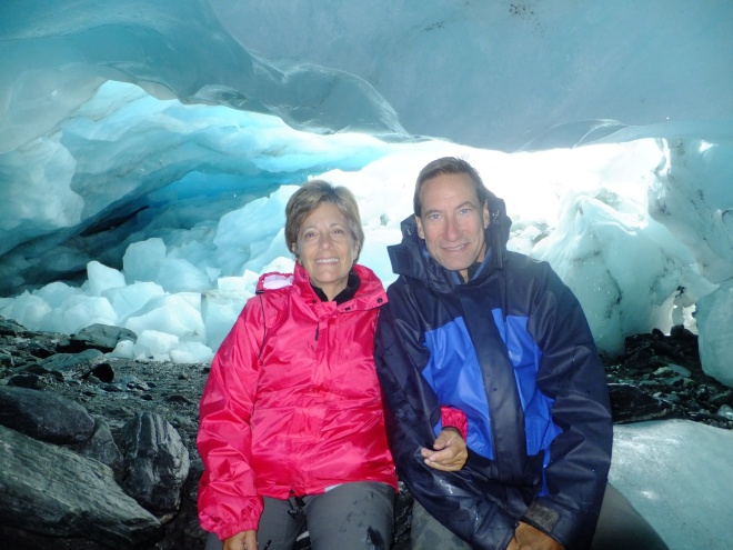 Ice cave in/on Fox Glacier
