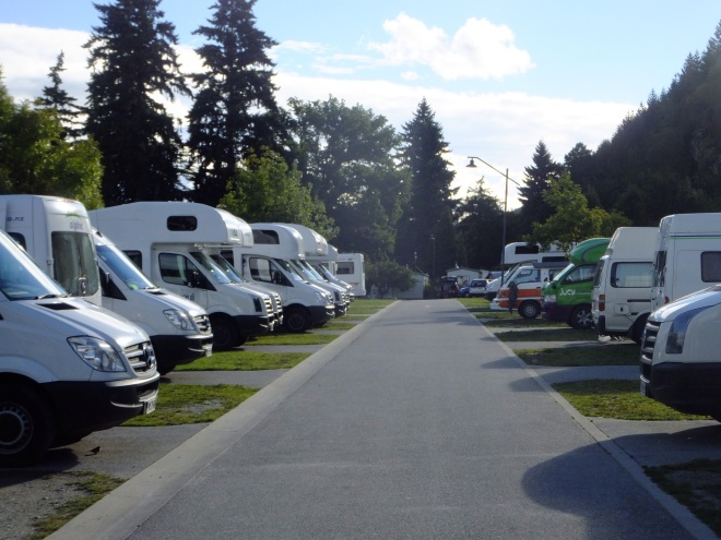Holiday Park accommodations. You get to know your neighbor quite well