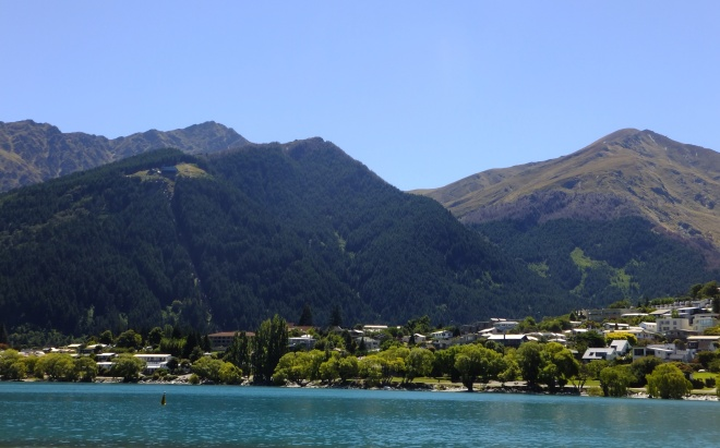 queenstown from the q trail