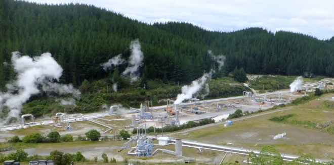 A Geo-thermal power plant