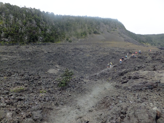 hike on crater floor