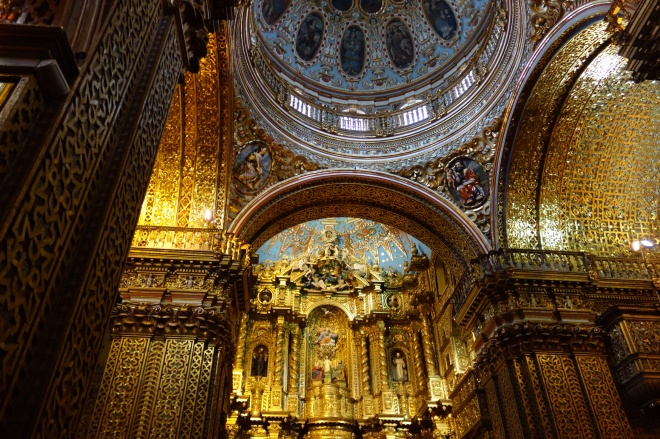 The incredibly ornate Church of the Company of Jesus