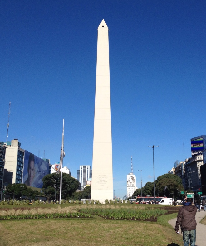 The Obelisk is a national historic monument and symbol of Buenos Aires