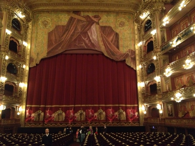 Inside the opulent theater