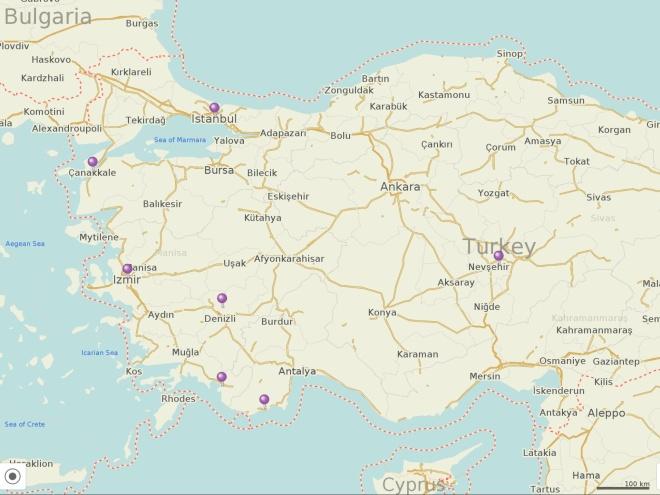 Turkey. June to July