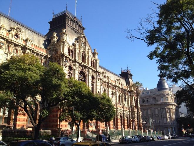 Agua Corrientes. A  palatial public waterworks built ini 1894.